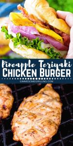 Pineapple Teriyaki Chicken Burger Pinterest 1