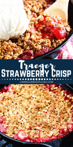 Traeger Strawberry Crisp Pinterest 1