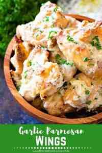 Garlic Parmesan Wings Pinterest Collage November