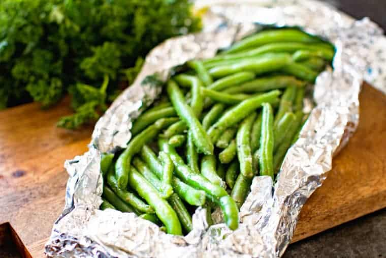 Green Beans in Foil Packet