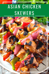 Asian Chicken Skewers Collage 5