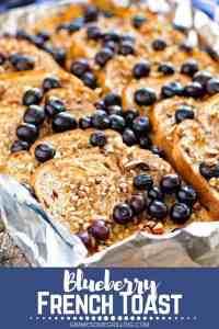 Blueberry French Toast Pinterest Image Nov