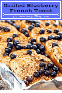 Grilled Blueberry French Toast Pinterest Collage 2