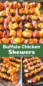 Buffalo Chicken on Skewers Pinterest Image