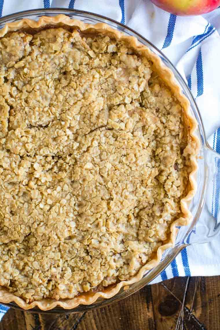 Smoked Apple Pie overhead image