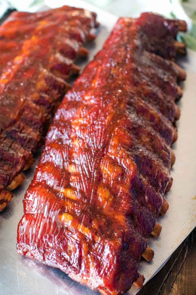 Rack of Smoked Pork Ribs