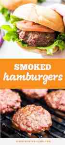 Smoked Hamburgers pin image