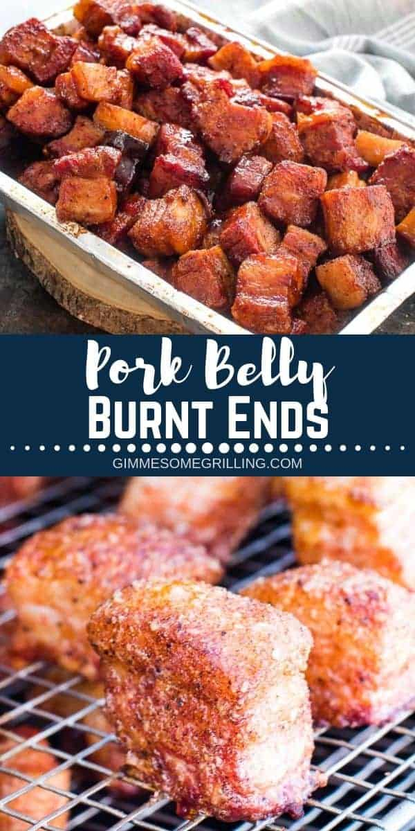 These Pork Belly Burnt Ends are such a delicious recipe and a fun twist on traditional Brisket Burnt ends. Instead of using a brisket we used a pork belly. The result are tender, flavorful pork belly burnt ends that are seasoned and tossed in BBQ Sauce. So delicious and packed with flavor! The perfect recipe for your Traeger Smoker for parties and entertaining! #recipe #traeger