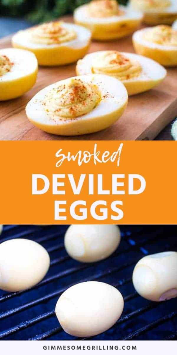 Easy Smoked Deviled Eggs make the best Easter recipe ever. They start with a hard boiled egg that's turned into a creamy deviled egg. The flavor is unbelievable! #traeger #recipe via @gimmesomegrilling