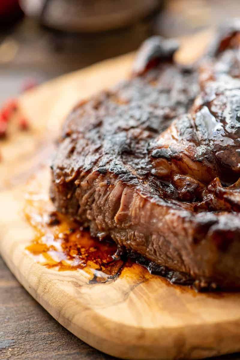 Piece of Steak cut prepared in marinade