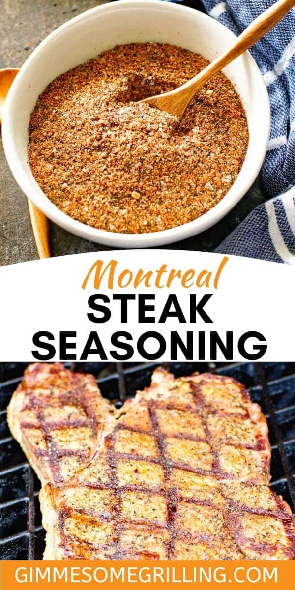 Make this quick and easy Montreal Steak Seasoning that's even better than the store bought version! It's the perfect versatile seasoning to have in your pantry for grilling steak, pork, fish, vegetables and more! #seasoning #montreal via @gimmesomegrilling