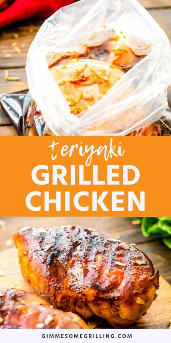 Grilled Teriyaki Chicken is a delicious, easy grilled dinner recipe. The chicken breasts are marinated in a homemade teriyaki marinade and then grilled. This Teriyaki Chicken is juicy, tender and full of flavor. They are perfect for a quick weeknight meal on the grill! #chicken #teriyaki via @gimmesomegrilling