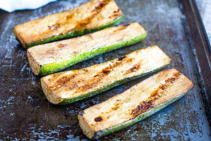 easy Grilled Zucchini on pan