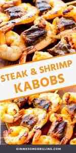 steak and shrimp kabobs recipe Pins