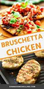 GRILLED BRUSCHETTA CHICKEN recipe Pins
