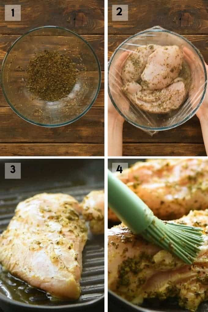 greek chicken marinade Collage
