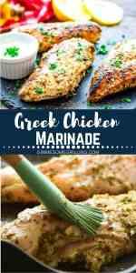 greek chicken marinade Pinterest 1