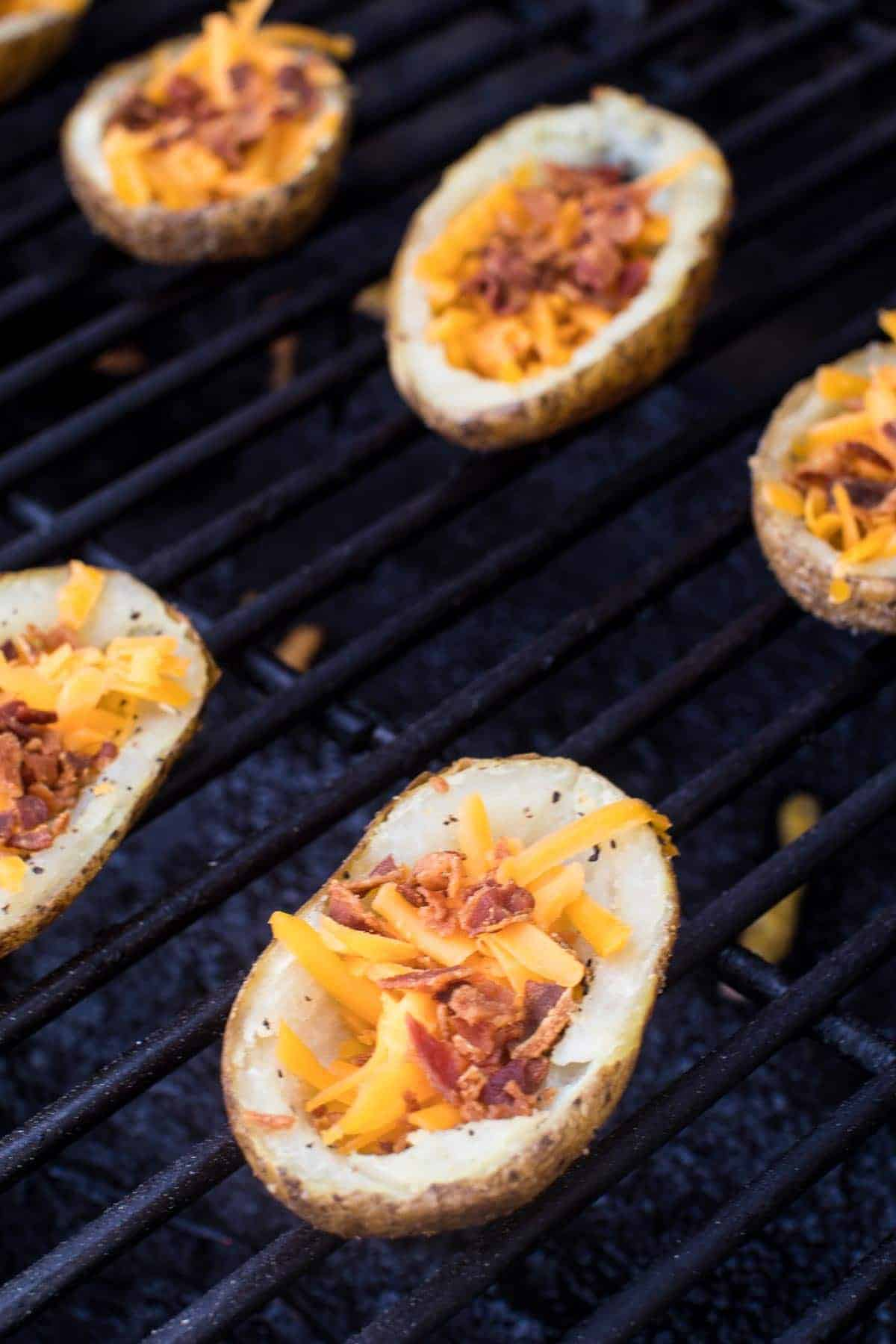 Potato Skins on Smoker