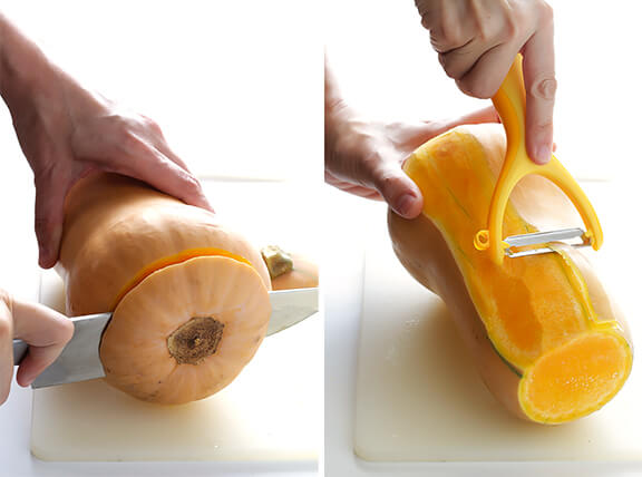 How To Peel And Cut Butternut Squash  Gimme Some Oven