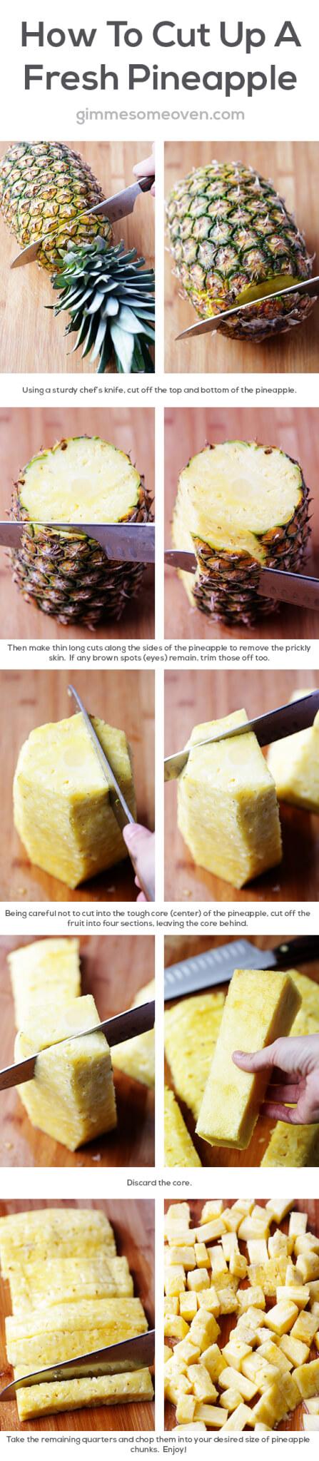 How To Cut A Pineapple Gimmesomeovencom