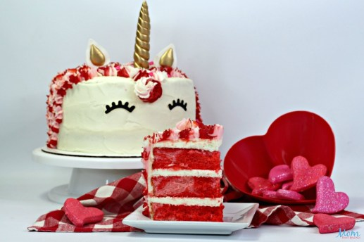Valentine's Day desserts - Unicorn Layered Cake