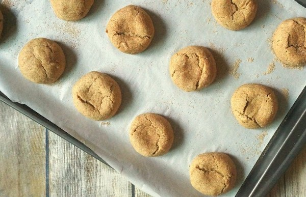 Soft Baked Pumpkin Snickerdoodle Cookies