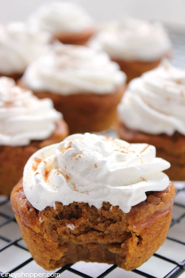 Pumpkin Pie Cupcakes Recipes