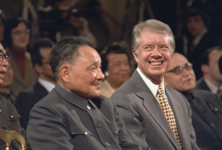 Deng Xiaoping and Jimmy Carter during Sino-American signing ceremony - 31/1/1979.