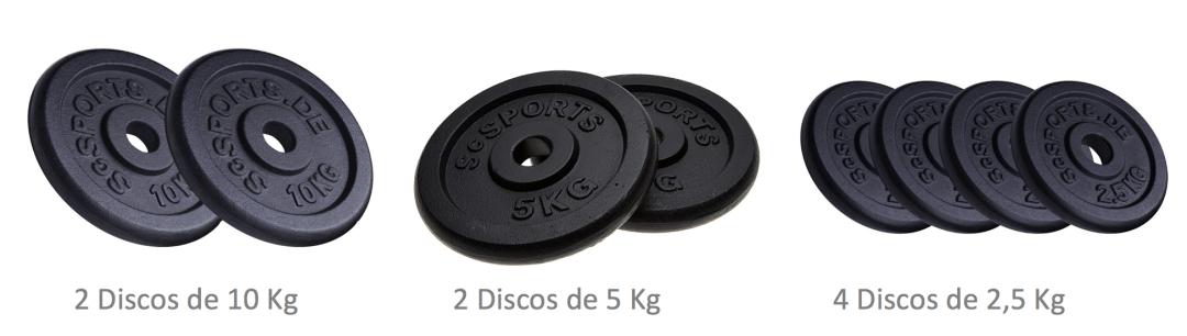discos para maquinas de gimnasio