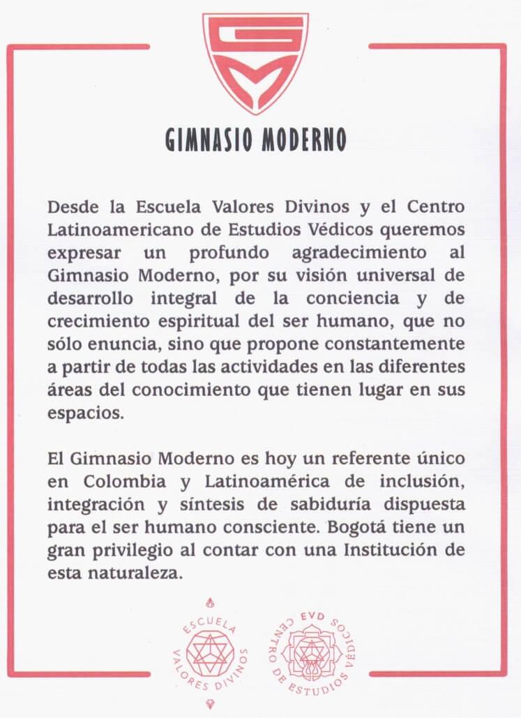 Gimnasio Moderno como referente latinoamericano