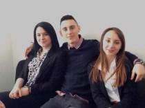 Vanesa Drakšić, Goran Roksandić i Stela Marjančić kao podrška kolegama u drugom krugu suđenja
