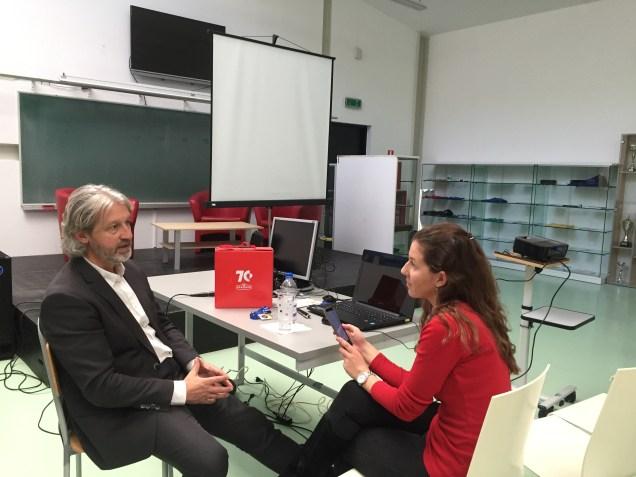 profesor Labaš u razgovoru s novinarkom FRANzinea
