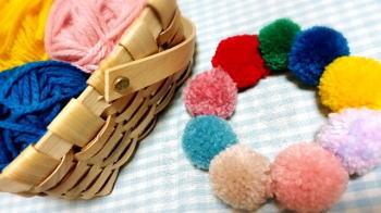 毛糸ポンポンの作り方!慣れれば2色でも簡単!