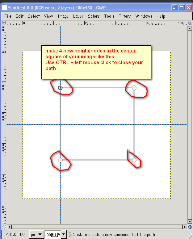 How To Make A Circle In Gimp : circle, Creating, Circle, Paths