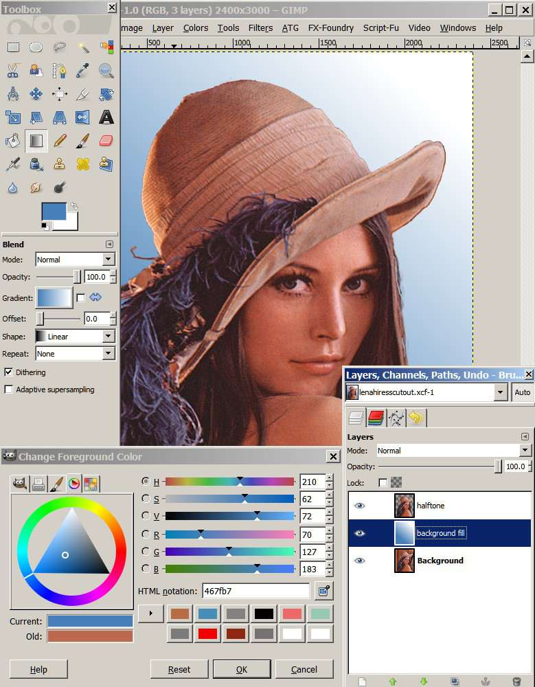 How To Insert Image In Gimp : insert, image, Comic, Style, Portrait