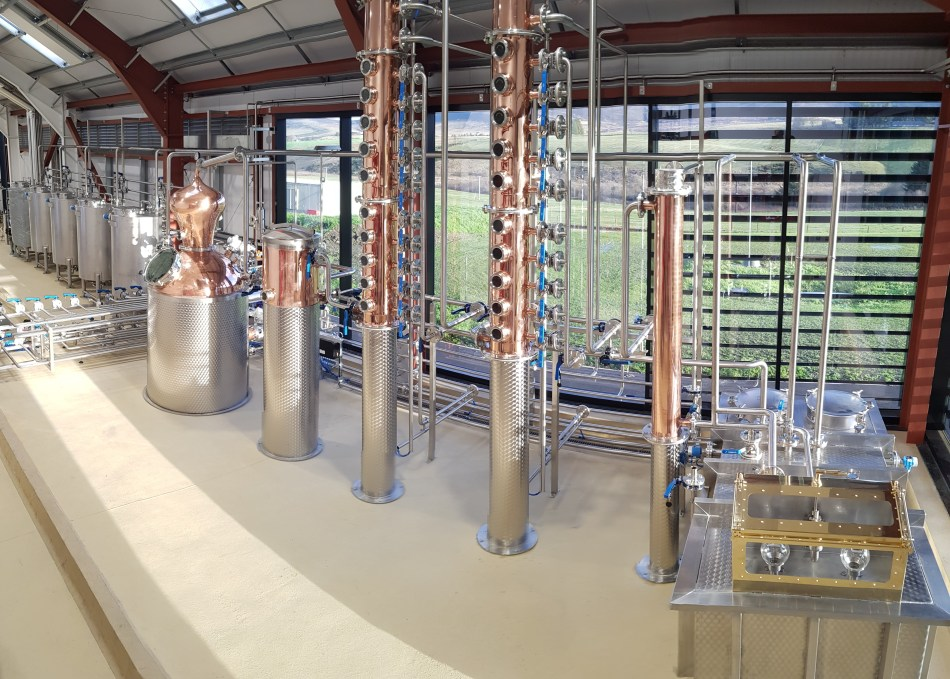 Glenrinnes Distillery interior stills and spirit safef.jpg