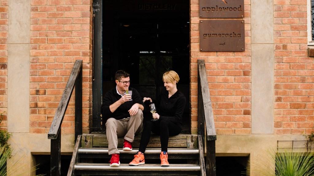 Brendan and Laura Carter, founders of Applewood Distillery