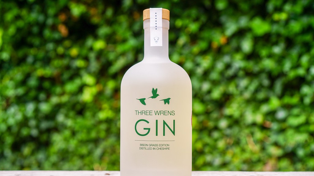 A bottle of Three Wrens Bison Grass Gin