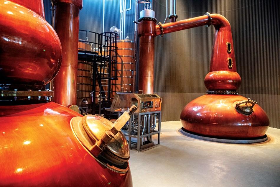 Bently Heritage Estate Distilling stills