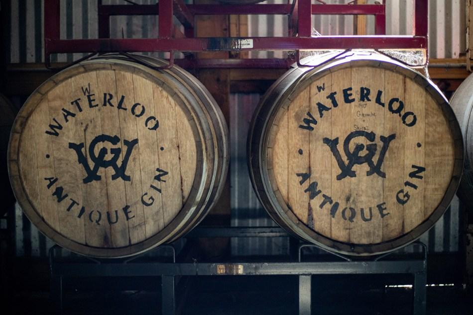Waterloo Antique Gin barrels