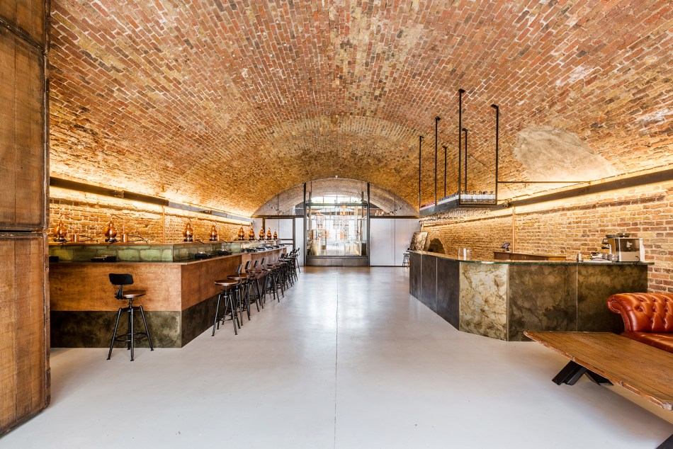 Inside 58 Gin building Haggerston