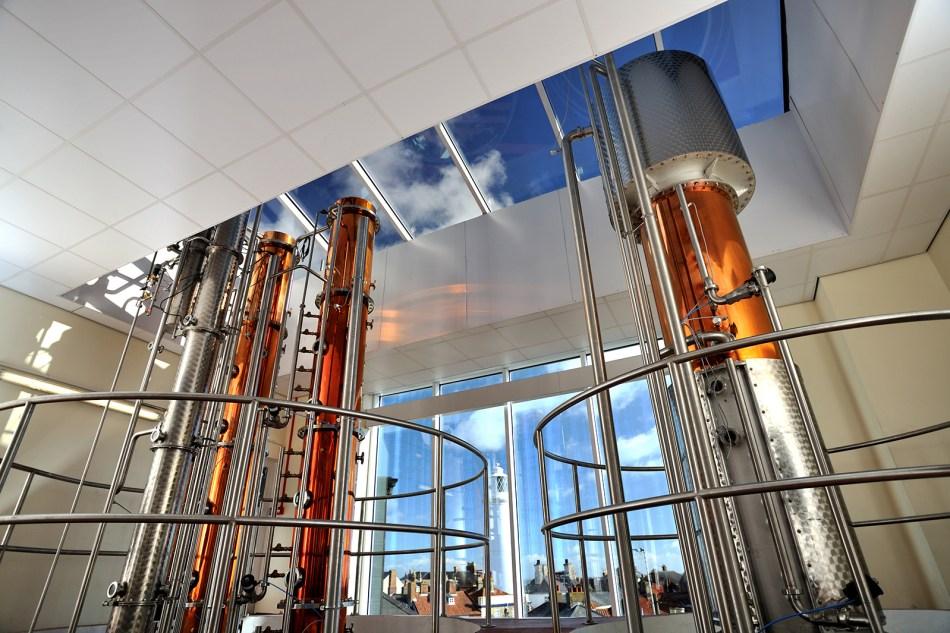 Inside Adnams Copper House Distillery in Suffolk