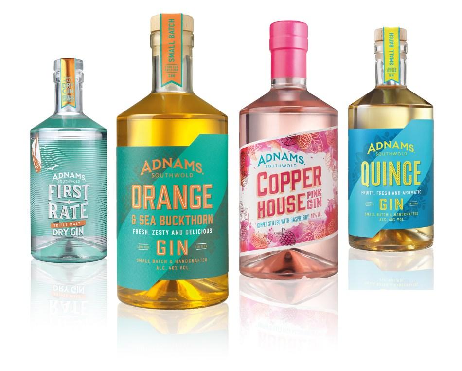 Adnams Copper House gin range