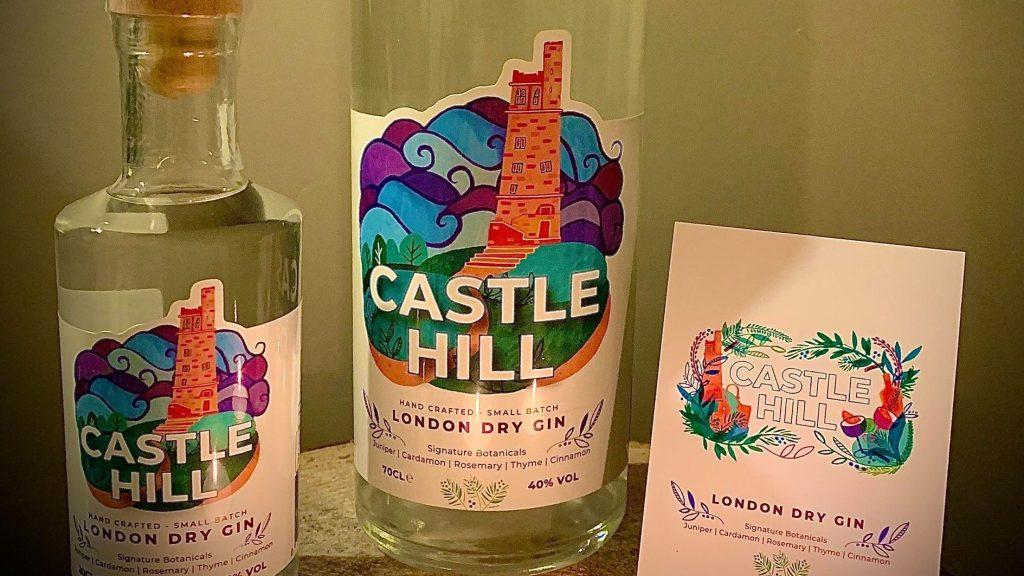 Castle Hill Gin bottles