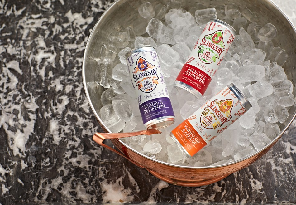 Slingsby Spritz cans