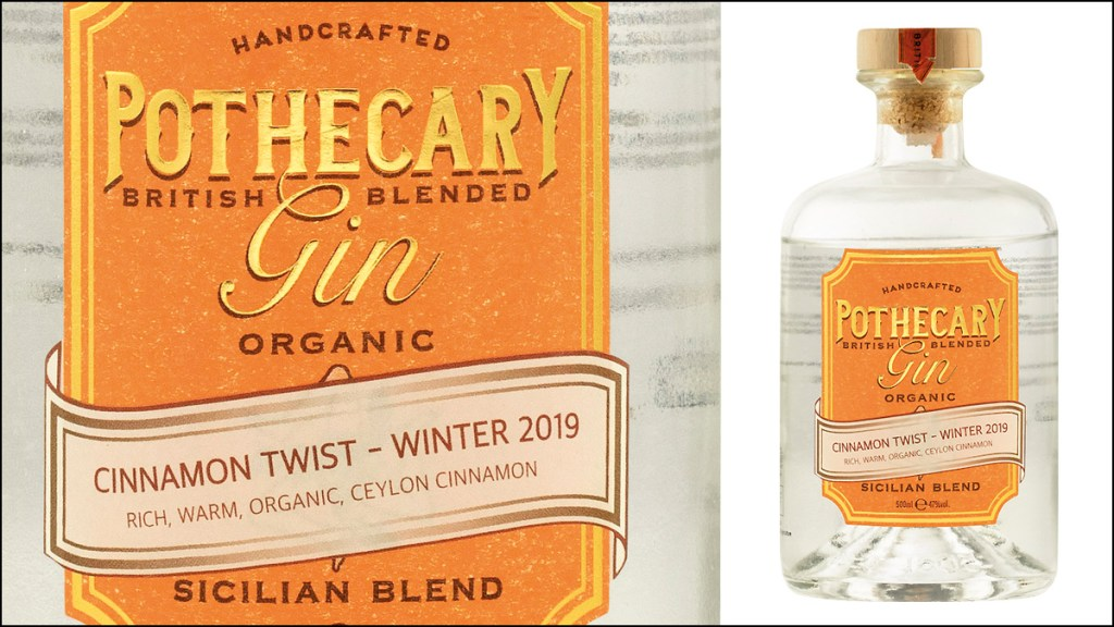 Pothecary Gin Cinnamon Twist Winter 2019