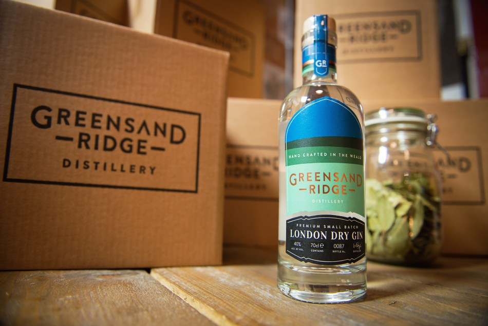 Greensand Ridge Gin bottle and packaging