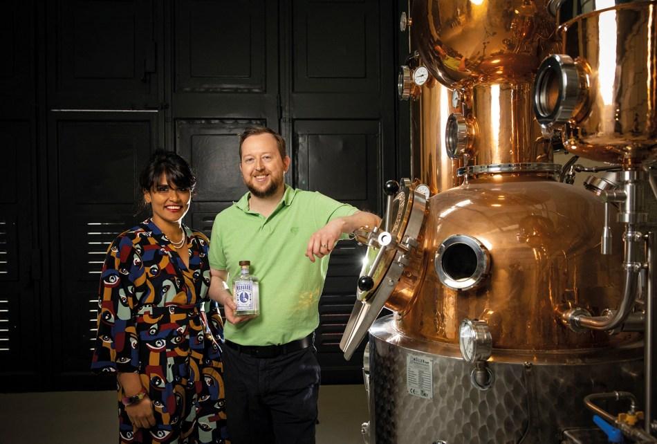 Robert and Bhagya Barrett of Maharani Gin
