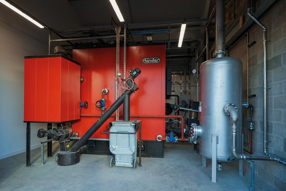 The biomass boiler at GlenWyvis Distillery