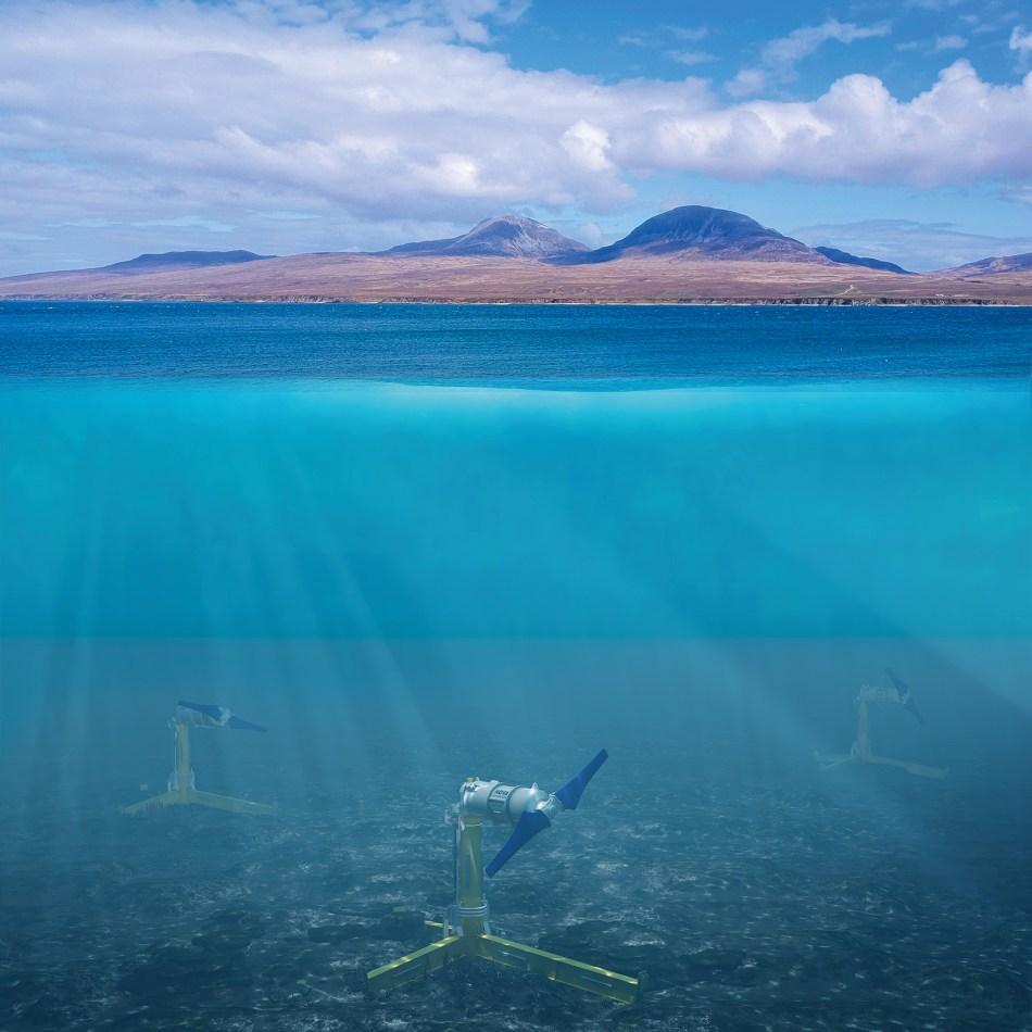 Nova Innovation tidal energy project in the Hebrides